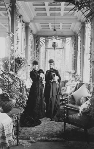 La reine Alexandra et l'impératrice Dogmar
