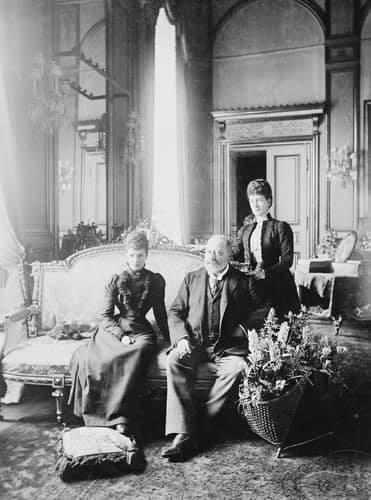 Edward VII, reine Alexandra, impératrice Dogmar de Russie