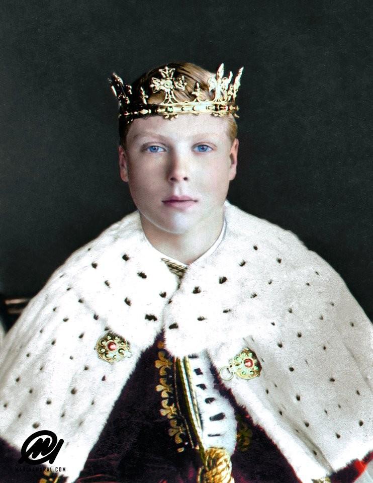 Edward VIII au couronnement de son père George V