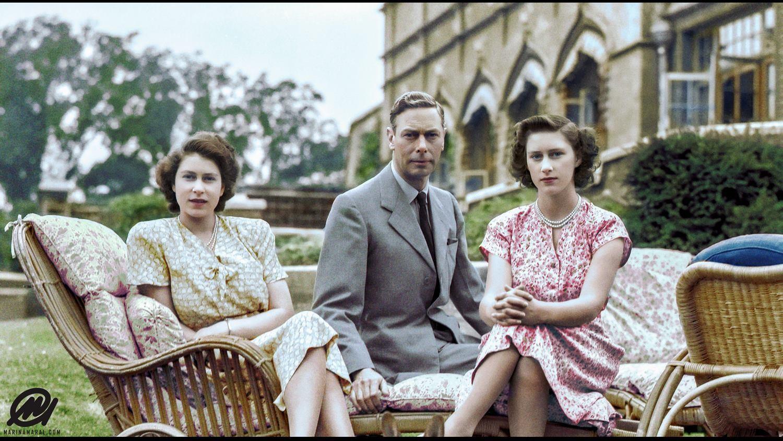 George VI, la princesse Elizabeth et la princesse Margaret