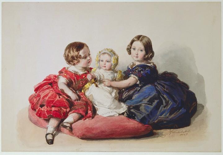 Princesse Alice, prince Alfred et princesse Hélène - 1846