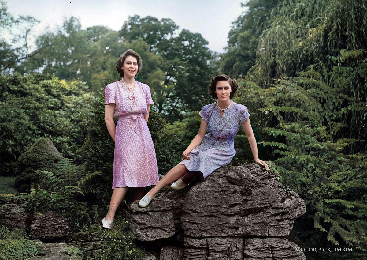Princesse Elizabeth et princesse Margaret