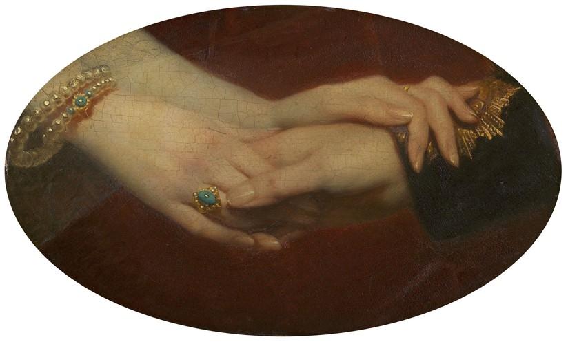 Mains de la reine Victoria et du prince Albert - 1860