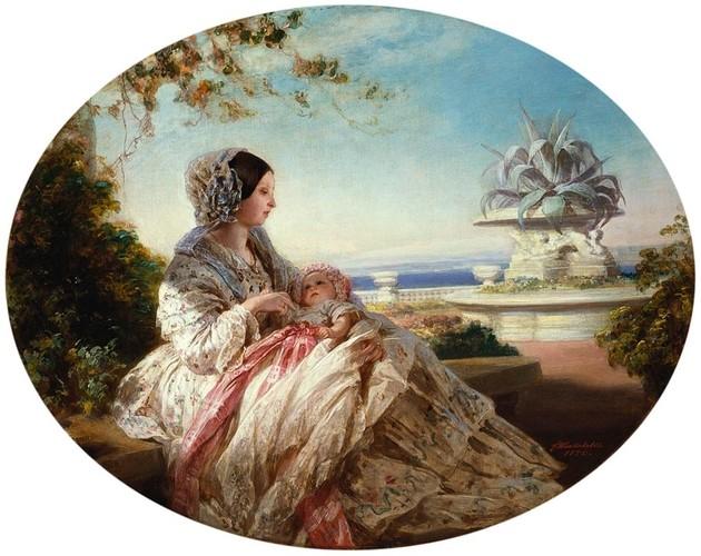 Reine Victoria et prince Arthur - 1851