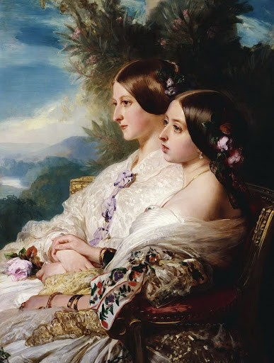 Reine Victoria et sa cousine la duchesse de Nemours - 1852