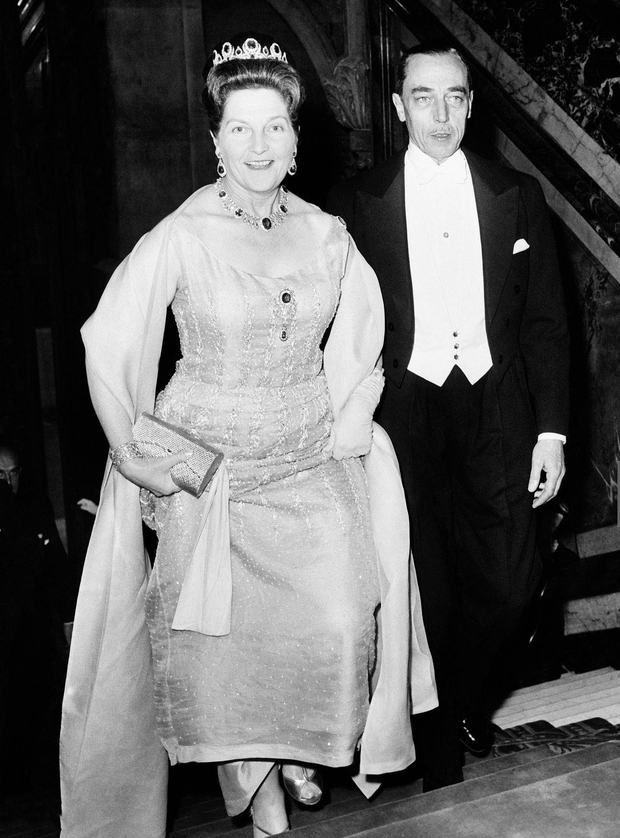 Bal chambre des commerces britannique a paris pour princesse alexandra de kent 1965