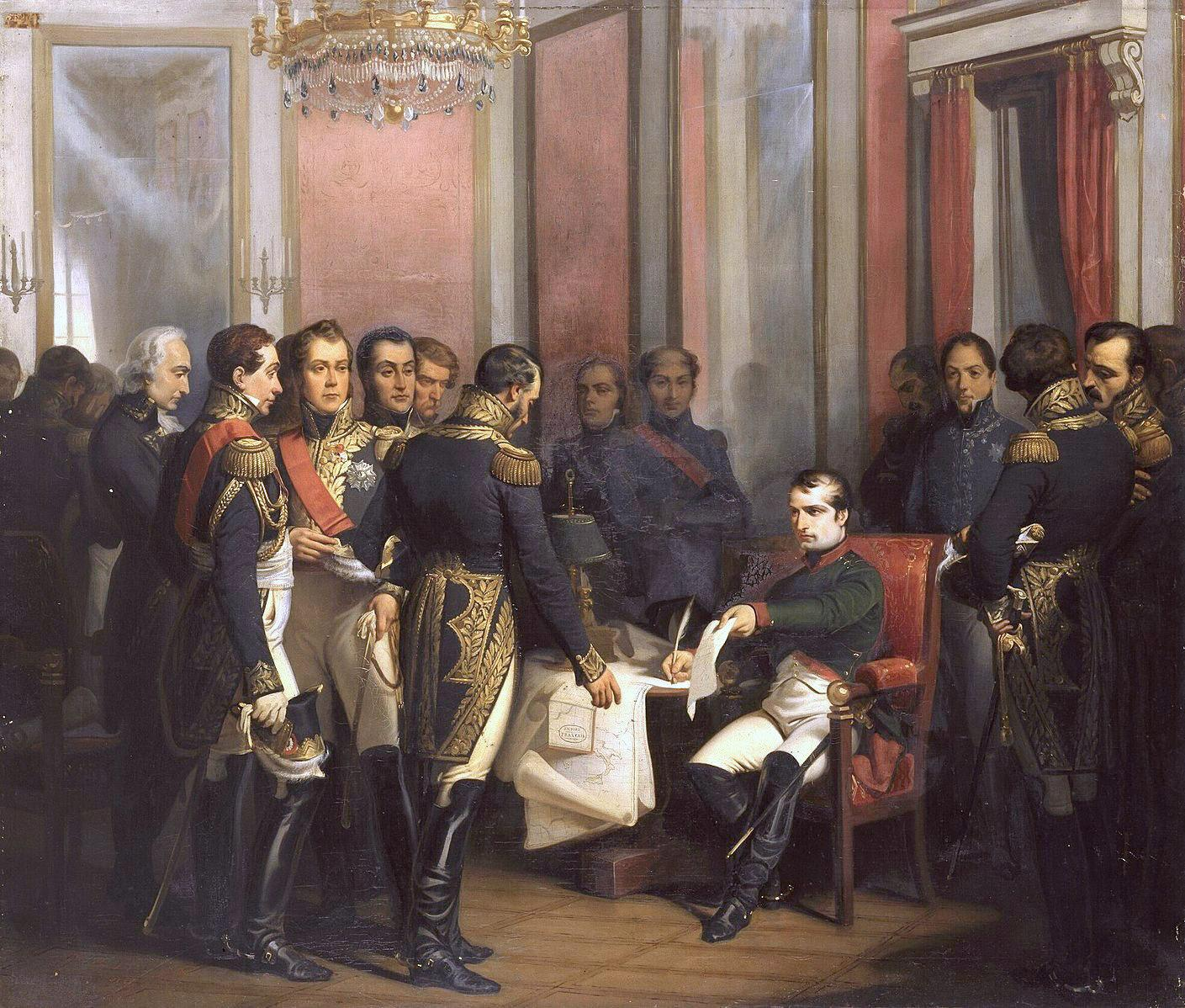 Bouchot napoleon signe son abdication a fontainebleau 4 avril 1814