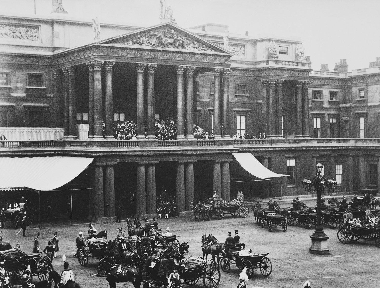 Buckingham palace during diamond jubilee of queen victoria
