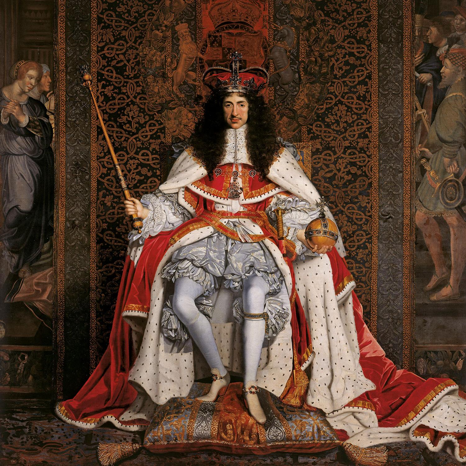 Charles ii of england in coronation robes 1