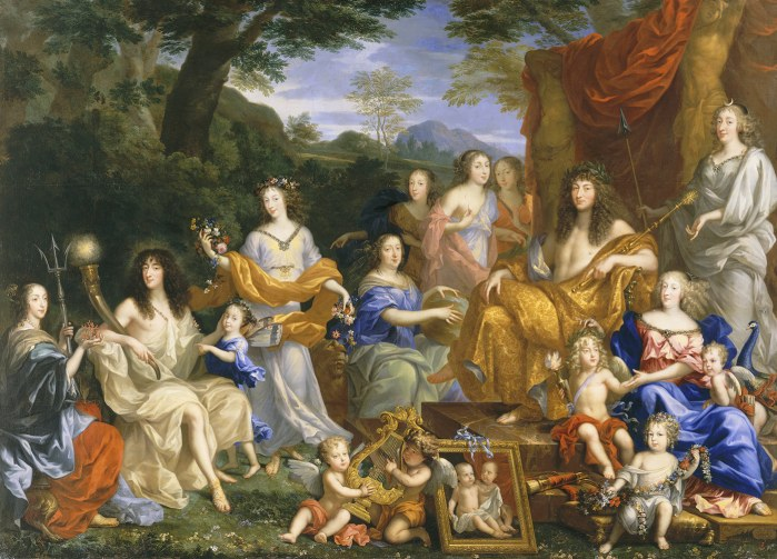 Famille louis xiv travesti