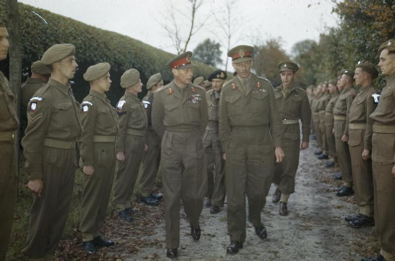 Hm king george vi with the british liberation army in holland 13 october 1944 tr2404