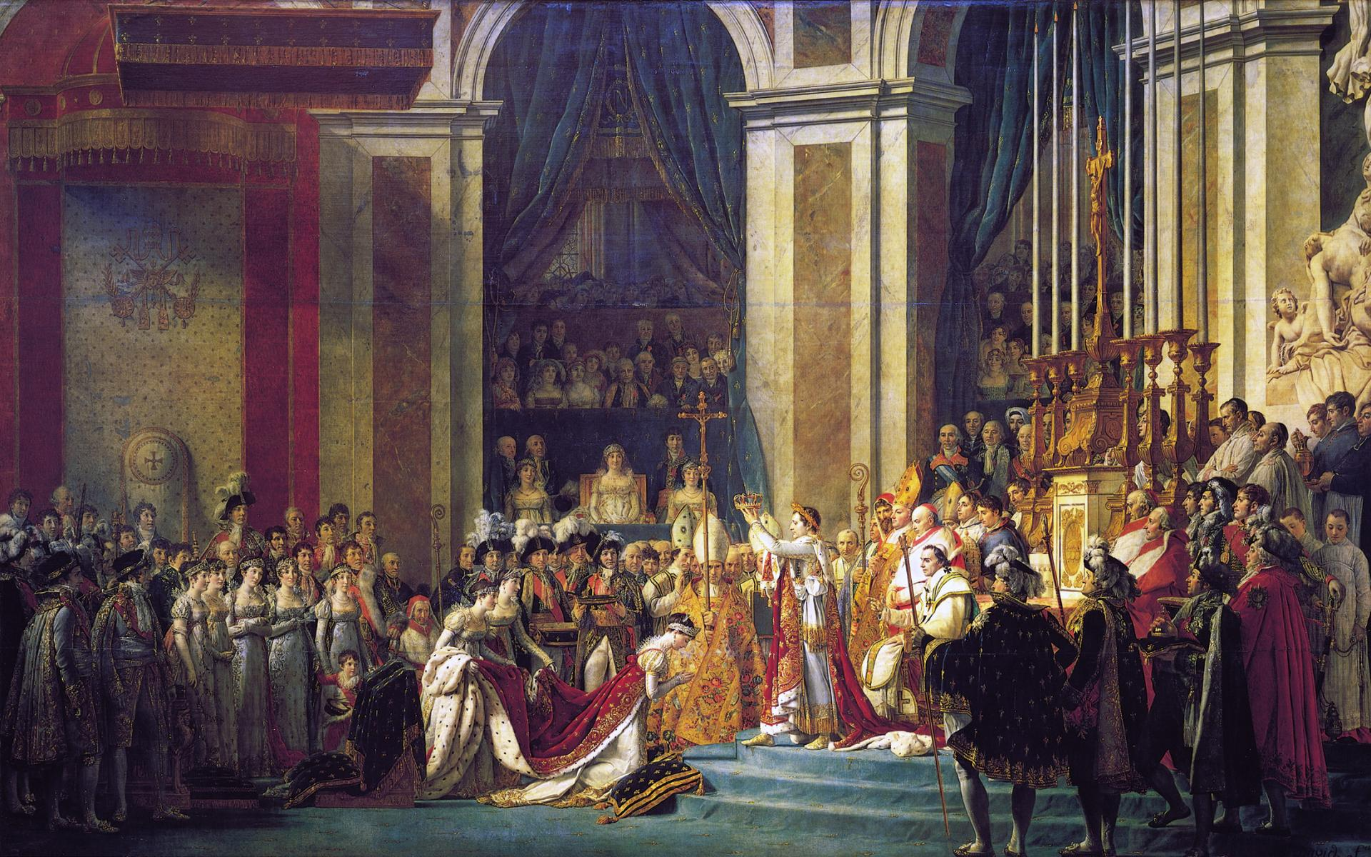 Jacques louis david the coronation of napoleon