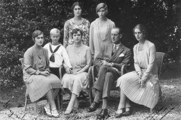 Prince philip of englands family poses for a photograph
