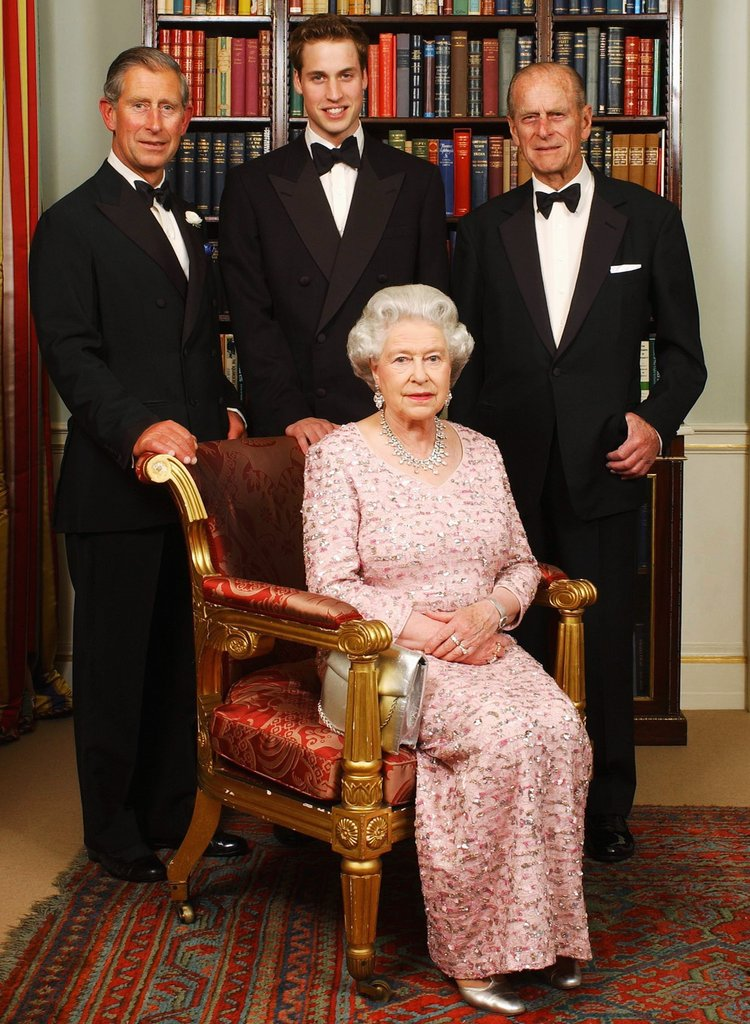 Three generations royal family posed june 2 2003 before