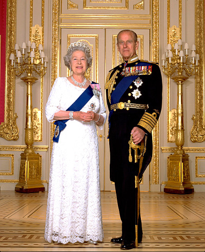 United kingdom elizabeth ii philip
