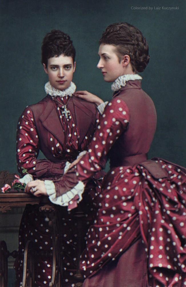 Reine Alexandra et sa soeur la tsarine Maria Feodovna