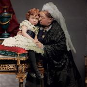 La reine Victoria et l'un de ses petits-fils
