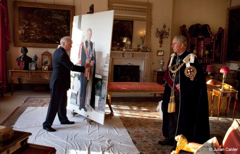 Le prince de Galles posant pour Richard Stone