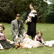 Princesse Elizabeth, George VI, Elizabeth Bowes Lyon, princesse Margaret