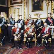 George V et les monarques d'Europe présents aux funérailles d'Edward VII