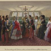 Le roi Louis-Philippe des Français et la reine Victoria - 1843