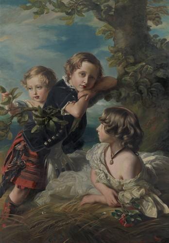 Princesse Louise, prince Arthur et prince Leopold - 1856