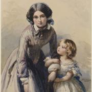 Princesse Louise et Eliza Collins - 1850