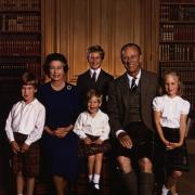 Elizabeth II, prince Philip et leurs petits-enfants - 1987