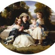 Princesse Victoria, princesse Alice, princesse Hélène, princesse Louise - 1849