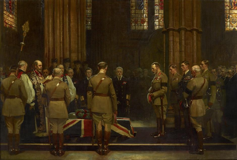 Burial of the british unknown warrior 1920