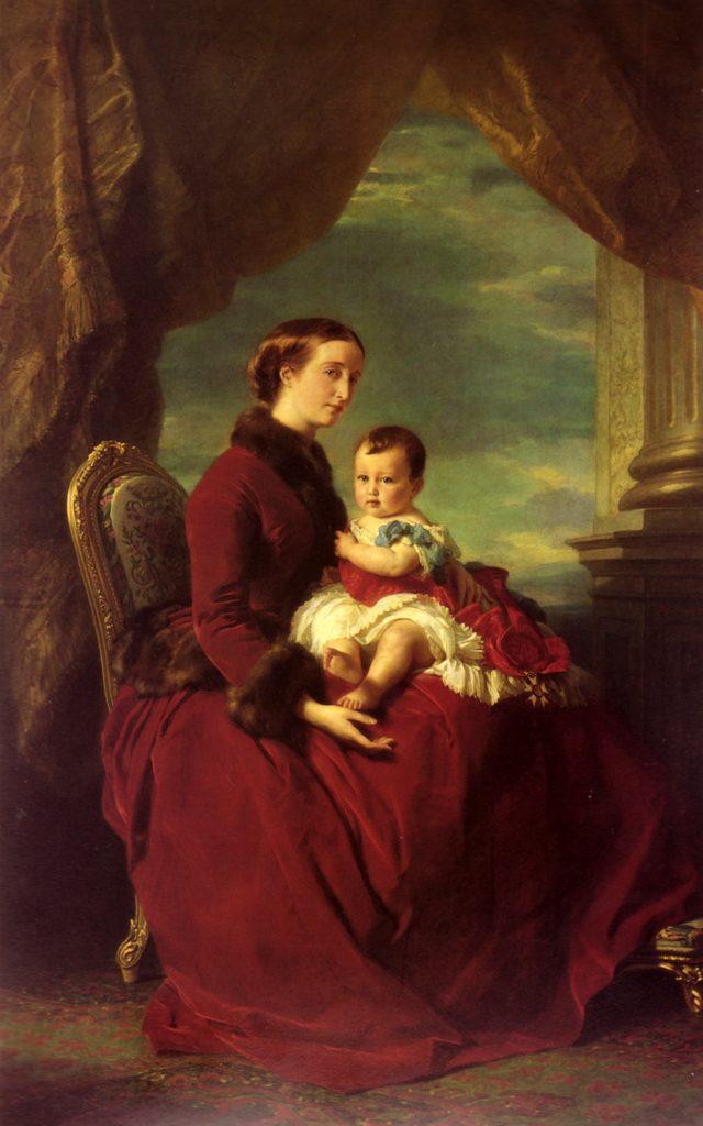 Franz xavier winterhalter the empress eugenie holding louis napoleon 640x1024