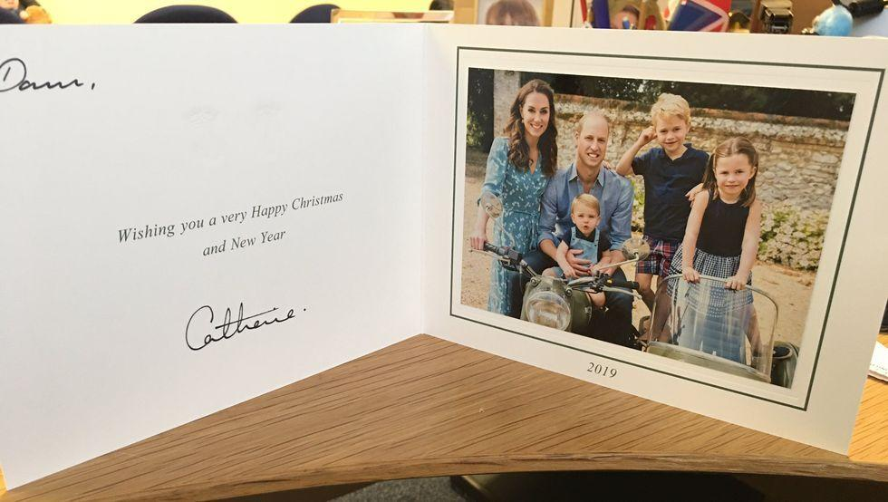 Kate middleton prince william christmas card 2019 1577005814
