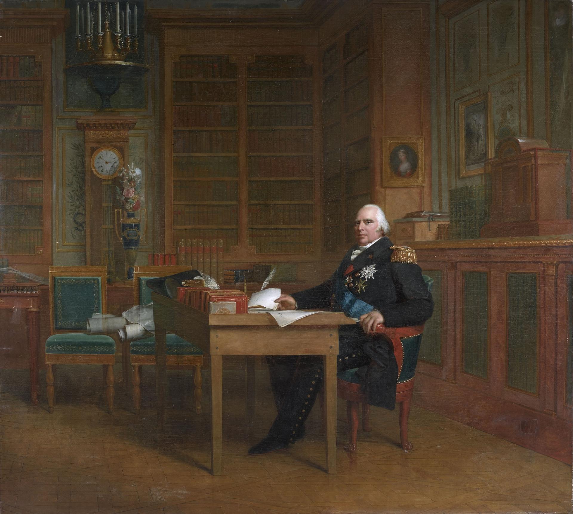 Le roi louis xviii dans son cabinet de travail des tuileries bgw17 0044