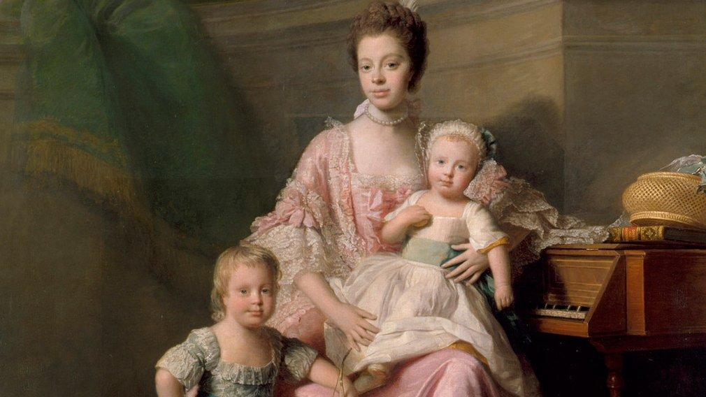 Queen charlotte with her two eldest sons allan ramsey full image