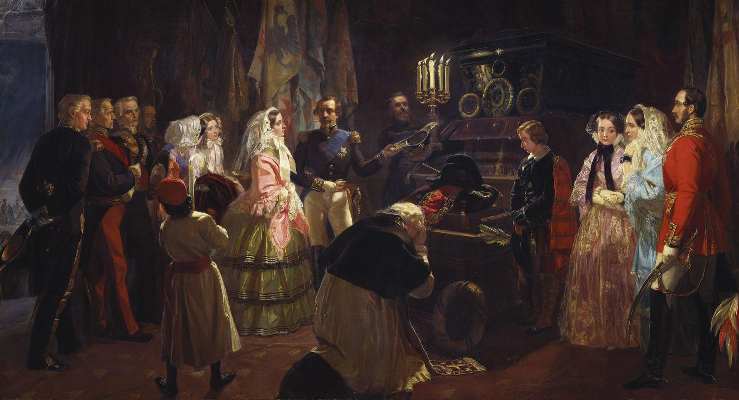 Queen victoria at the tomb of napoleon 24 august 1855